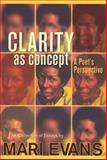 Clarity as Concept, Mari Evans, 0883782316