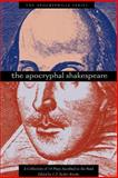 The Apocryphal Shakespeare, , 0974762326