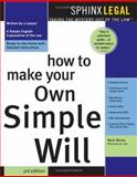 How to Make Your Own Simple Will, Mark Warda, 157248232X