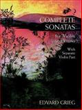 Complete Sonatas for Violin and Piano, Edvard Grieg, 0486402339