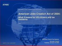 American Jobs Creation Act : Conference Report, CCH Editors, 0808012355
