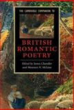 The Cambridge Companion to British Romantic Poetry, McLane, Maureen N., 0521862353