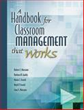A Handbook for Classroom Management That Works, Marzano, Robert J. and Gaddy, Barbara B., 1416602364