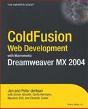 ColdFusion Web Development with Macromedia Dreamweaver MX 2004, Peter  deHaan and Massimo Foti, 1590592379