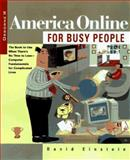 America Online for Busy People, David Einstein, 0078822394