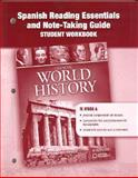 World History : Spanish Reading Essentials and Note-Taking Guide, Glencoe McGraw-Hill, 0078782406