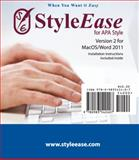 StyleEase for APA Style for MacOS/Word 2011 (cardboard sleeve) : (cardboard sleeve), StyleEase Software, 0983542406