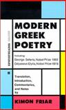 Modern Greek Poetry, Friar, K., 9602262435
