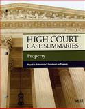 High Court Case Summaries on Property, Keyed to Dukeminier, 7th, West, 0314272445