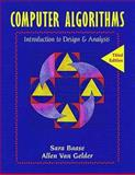 Computer Algorithms : Introduction to Design and Analysis, Baase, Sara and Van Gelder, Allen, 0201612445