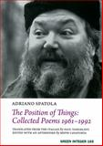 The Position of Things, Adriano Spatola, 1933382457
