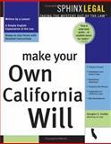 Make Your Own California Will, Douglas E. Godbe, 157248246X