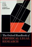 The Oxford Handbook of Empirical Legal Research, Cane, Peter, 0199542473