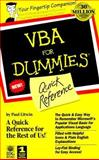 VBA for Dummies Quick Reference, Dummies Technical Press Staff, 0764502506