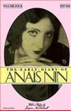 The Early Diary of Anais Nin, Anaïs Nin, 0156272512
