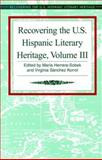 Recovering the U. S. Hispanic Literary Heritage, , 1558852514
