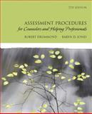 Assessment Procedures for Counselors and Helping Professionals, Drummond, Robert J. and Jones, Karyn D., 0137152523