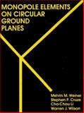 Monopole Elements on Circular Ground Planes, M. M. Weiner and S. P. Cruze, 0890062528