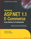 ASP.NET 1.1 E-Commerce, Darie, Cristian and Watson, Karli, 1590592549