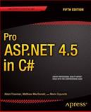 Pro ASP.NET 4. 5 in C#, Adam Freeman and Matthew MacDonald, 143024254X