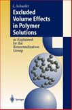 Excluded Volume Effects in Polymer Solutions : As Explained by the Renormalization Group, Schäfer, Lothar, 3642642543