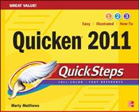 Quicken 2011 QuickSteps, Martin Matthews and Bobbi Sandberg, 0071752560