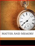 Matter and Memory, Henri Bergson, 1149462620