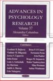 Advances in Psychology Research, Columbus, Alexandra, 1594542627