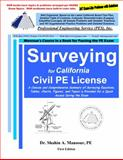 Surveying for California Civil PE License, Mansour, Shahin, 0982372639