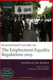 Blackstone's Guide to the Employment Equality Regulations 2003, De Marco, Nicholas, 0199272654