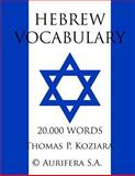 Hebrew Vocabulary, Thomas Koziara, 1500192651