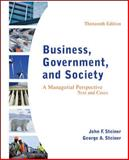Business, Government, and Society : A Managerial Perspective, Steiner, George and Steiner, John, 0078112672