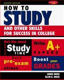 How to Study, Deese, James E. and Deese, Ellin K., 0070162697