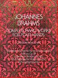 Complete Piano Works for Four Hands, Johannes Brahms, 0486232719