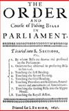 The Order and Course of Passing Bills in Parliament, , 0982912722