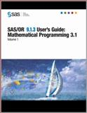 SAS/or 9. 1. 3 User's Guide : Mathematical Programming 3. 1, Volumes 1-4, SAS Publishing, 1599942739