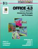 Microsoft Office 4.3 : Running under Windows 95, Shelly, Gary B. and Cashman, Thomas J., 0789512742