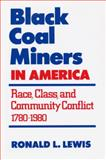 Black Coal Miners in America : Race, Class, and Community Conflict, 1780-1980, Lewis, Ronald L., 0813192749