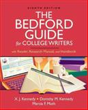 The Bedford Guide for College Writers with Reader, Research Manual, and Handbook, Kennedy, Dorothy M. and Muth, Marcia F., 0312452772