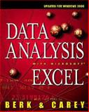 Data Analysis with Microsoft Excel : Updated for Office 2000, Berk, Kenneth N. and Carey, Patrick, 0534362788