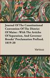 Journal of the Constitutional Convention of the District of Maine, Various, 1406782785