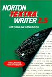 Norton Textra Writer 2.5 with Online Handbook, Ann Arbor Software Staff, 0393962784