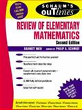 Schaum's Outline of Review of Elementary Mathematics, Rich, Barnett and Schmidt, Philip, 0070522790