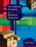 Spreadsheet Modeling for Business Decisions w/St CD, @RISK and Crystal Ball Access Cards, Kros, John F., 0077212797