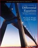 First Course in Differential Equations, Zill and Wright, Carol D., 0534382800