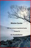 Wisdom Quotes (Volume 70), Purushothaman Kollam, 1499212801