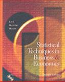 Statistical Techniques in Business and Economics, Lind, Douglas A. and Marchal, William G., 0072402822