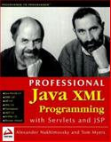 Java XML Programming with Servlets and JSP, Myers, Tom and Nakhimovsky, Alexander, 1861002858