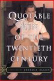 Quotable Men of the Twentieth Century, Jessica Allen, 0688162851