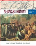 America's History to 1877, Henretta, James A. and Brody, David, 0312452853